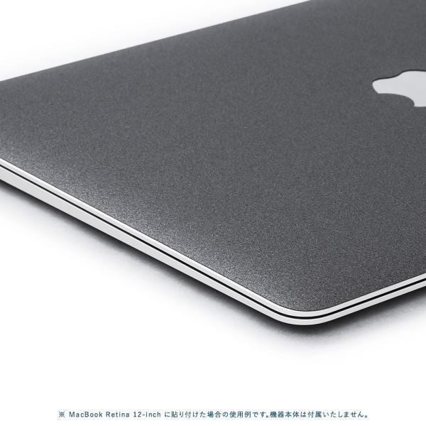 Macbook Pro 13インチ スキンシール ケース カバー フィルム 2018 2017 Retina 対応 wraplus 選べる31色 ガンメタリック|wraplus|04