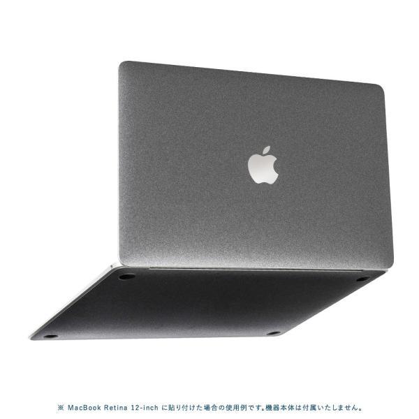 Macbook Pro 13インチ スキンシール ケース カバー フィルム 2018 2017 Retina 対応 wraplus 選べる31色 ガンメタリック|wraplus|05