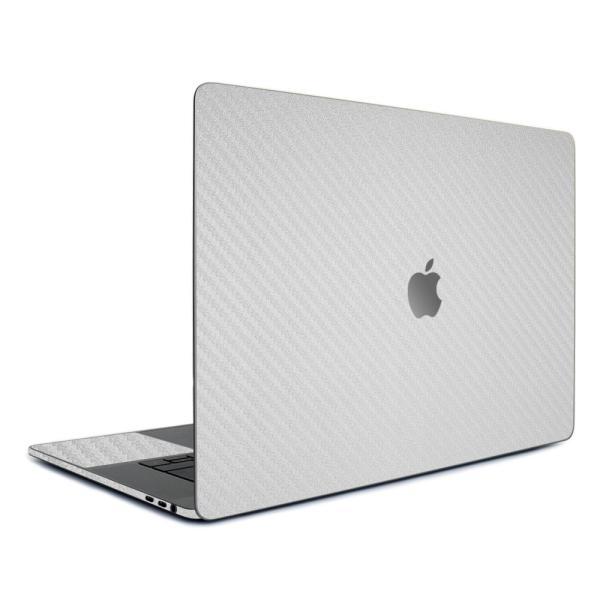 Macbook Pro 13インチ スキンシール ケース カバー フィルム 新型 M1 2020 2019 2018 対応 wraplus シルバーカーボン