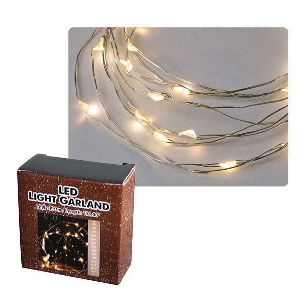 クリスマス最終セール クリスマス イルミネーション SPICE LEDワイヤーガーランド シルバー 3.3m