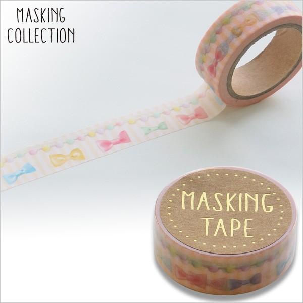 マスキングテープ  ワールドクラフト パステルリボン W02-MK-T0047 15mm×7m ネコポス対応