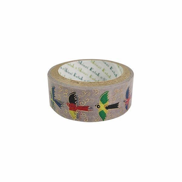 マスキングテープ シール堂 シンジカトウ Shinzi Katoh きらぴかマスキングテープ 15mm×3m 鳥の世界旅行 ks-dt-10128