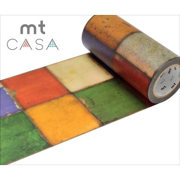 RoomClip商品情報 - マスキングテープ mt 幅広 カモ井加工紙 mt CASA テープ  タイル・ヴィンテージ 100mmx10m) MTCAS009