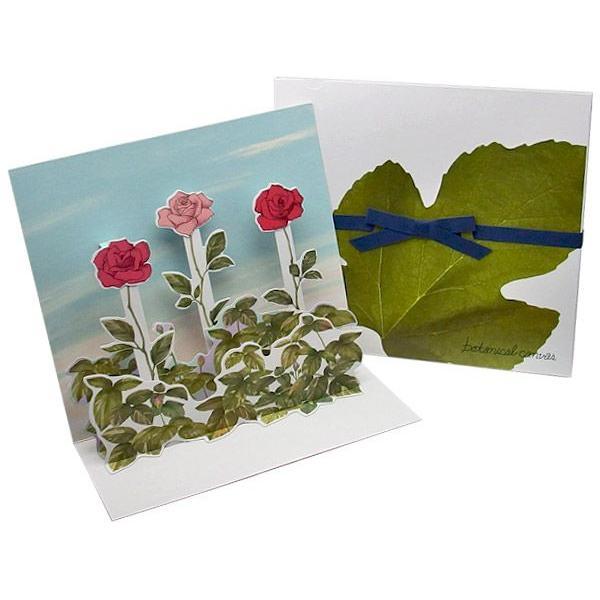 売り切りSALE octuple オクタプル 花びら付箋を貼る色紙 Botanical canvas three flowers スリーフラワーズ リボン付き色紙収納ケース入り 82240