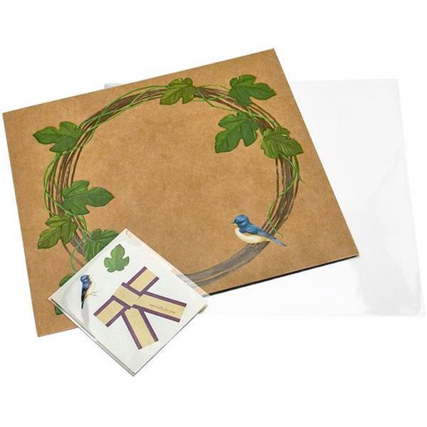 売り切りSALE octuple オクタプル 花びら付箋を貼る色紙 Botanical canvas tuta ツタ クラフト  ラッピングシール&透明袋付き 82243