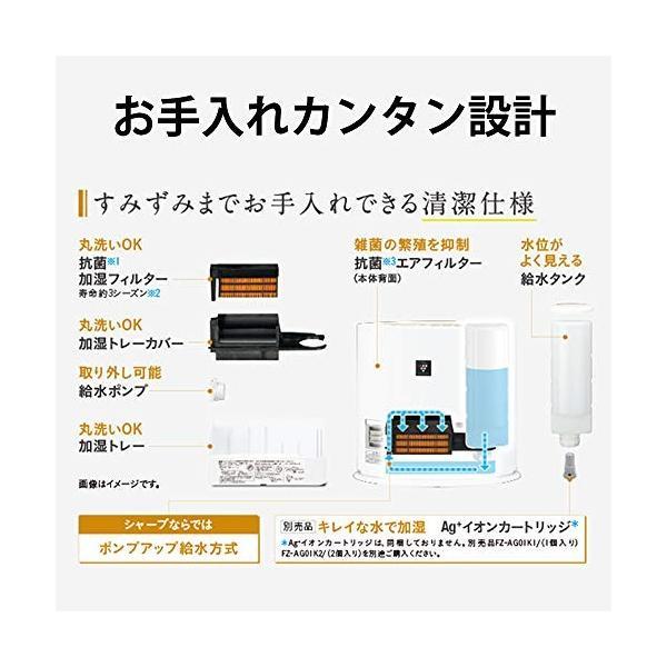 シャープ プラズマクラスター搭載 加湿機能付 セラミックファンヒーター ホワイト HX-H120-W wrb-online 03