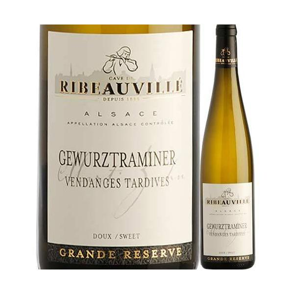白ワインゲヴュルツトラミネール・ヴァンダンジュ・タルティヴカーヴ・ド・リボヴィレ2015年フランスアルザス極甘口500mlwin