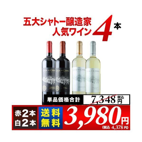 ワインセット 金賞ボルドーと五大シャトー醸造家ワイン5本セット(赤3本&白2本)送料無料 wine set