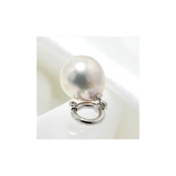 あこや真珠 パールチャーム ホワイト系 7.5-8.0mm BBC  K18WG/K18 引き輪 [n3]