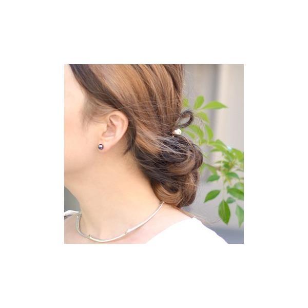 アコヤ真珠 パールピアス K14WG K18 チタン /イヤリング シルバー  ホワイト系/グリーン系 7.0-7.5mm [n2][ロングセラー] 初めての真珠 おすすめ|wsp|09