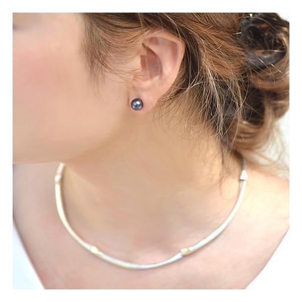 アコヤ真珠 パールピアス K14WG K18 チタン /イヤリング シルバー  ホワイト系/グリーン系 7.0-7.5mm [n2][ロングセラー] 初めての真珠 おすすめ|wsp|10