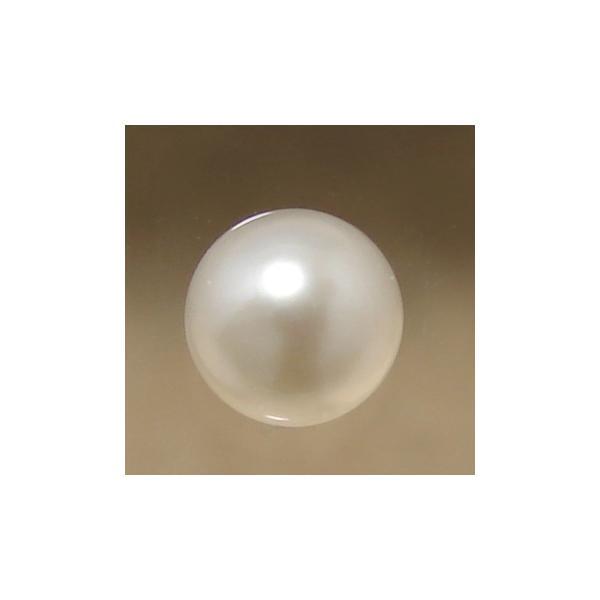 あこや本真珠 パールルース(シングル) 4.5-5.0mm CCB ラウンド (片穴があいています)[n3][4-356]