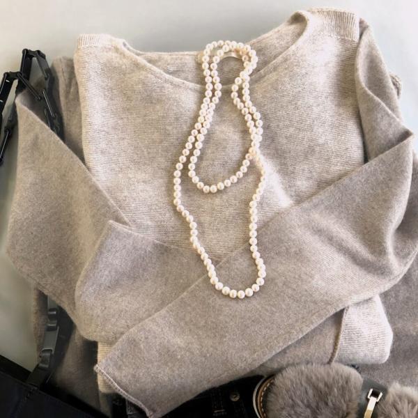 淡水真珠 ロングパールネックレス 100cm 7.0-8.0mm ポテト ホワイト/グレー/マルチカラー系 全5色 雑誌掲載[n3][100cm ロング]|wsp|13