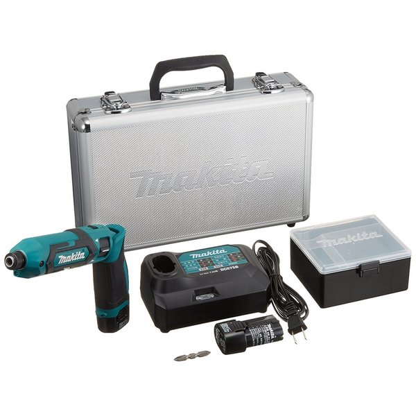 makita(マキタ)ペンインパクトドライバー TD022DSHX バッテリBL0715×2本・充電器DC07SB・アルミケース付 (青、白、黒の3色)充電ドライバー|wstone|07