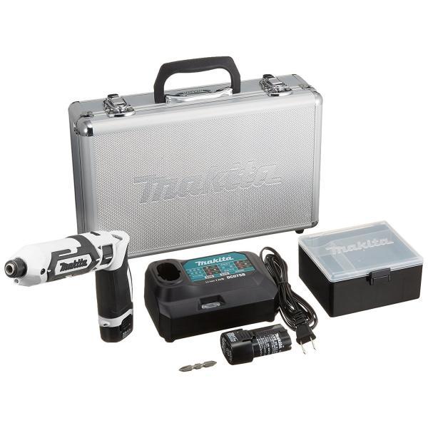 makita(マキタ)ペンインパクトドライバー TD022DSHX バッテリBL0715×2本・充電器DC07SB・アルミケース付 (青、白、黒の3色)充電ドライバー|wstone|09
