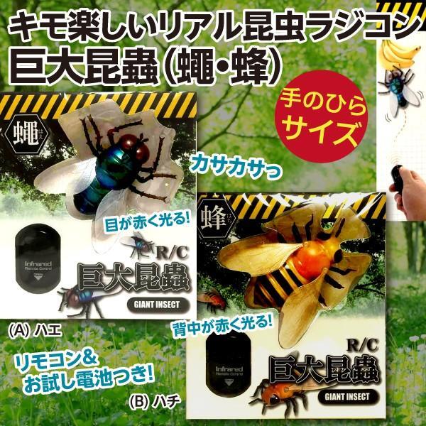 キモ楽しいリアル昆虫ラジコン 巨大昆蟲R/C(蠅ハエ・蜂ハチ)新品|wtpkikaku|02