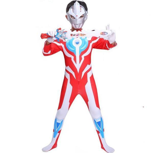 ハロウィン コスプレ 衣装 ウルトラマン コスチューム キッズ ボーイズ 男の子 ギンガ ティガ ジード 3種 wts-proshop