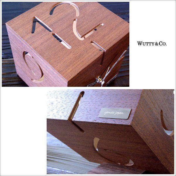 置時計 ウッド PUZZLE BR ウォールナット (おしゃれ 置き時計)|wutty|03