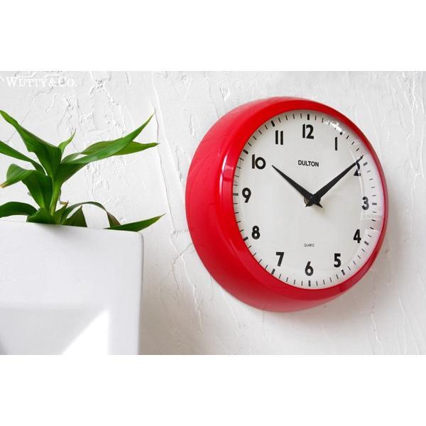 掛け時計 ラウンド DULTON RED (おしゃれ 掛時計)|wutty|02