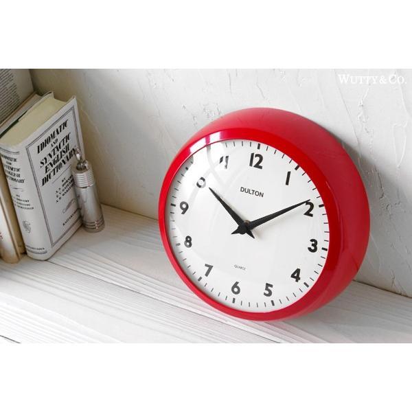 掛け時計 ラウンド DULTON RED (おしゃれ 掛時計)|wutty|03