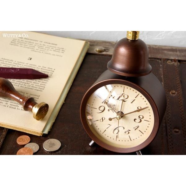 置時計 目覚まし時計 LEGER (アンティーク調 置き時計)|wutty|02
