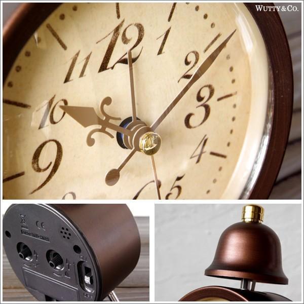 置時計 目覚まし時計 LEGER (アンティーク調 置き時計)|wutty|05