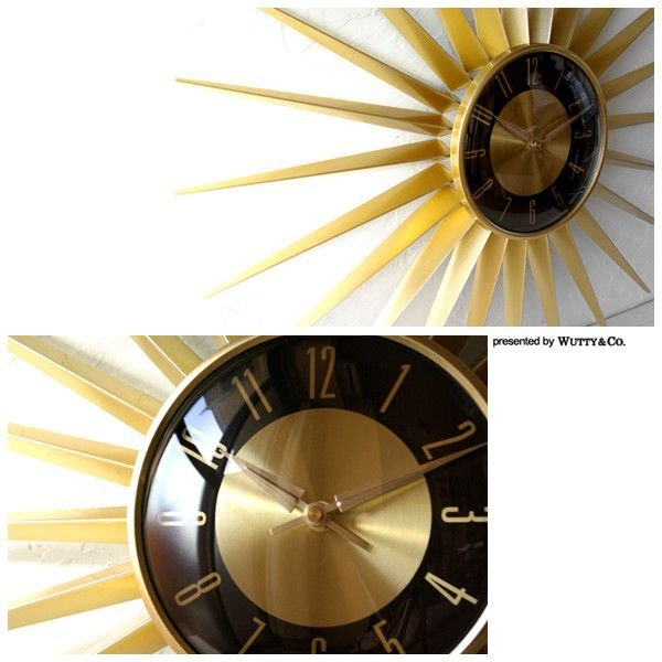 掛け時計 EMITS TIME (太陽型 おしゃれ 掛時計)|wutty|02