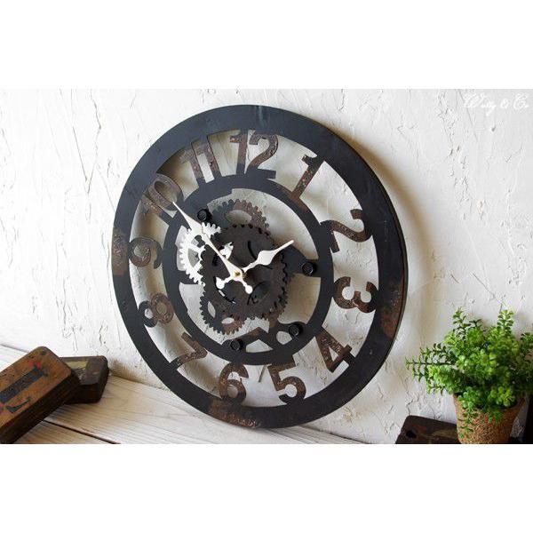 掛け時計  Cogwheel Arabic (おしゃれ 掛時計 歯車)|wutty