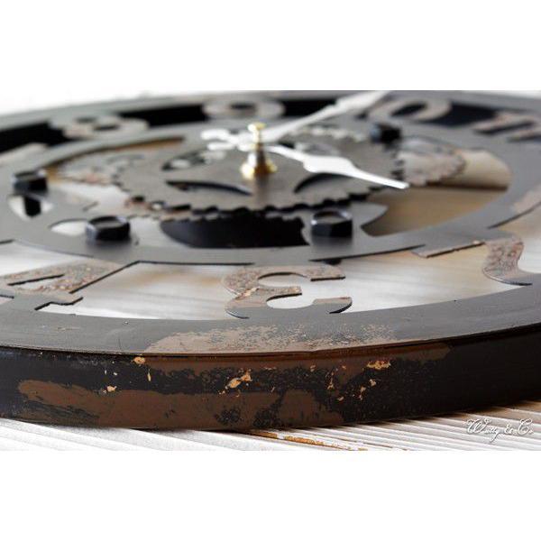 掛け時計  Cogwheel Arabic (おしゃれ 掛時計 歯車)|wutty|02
