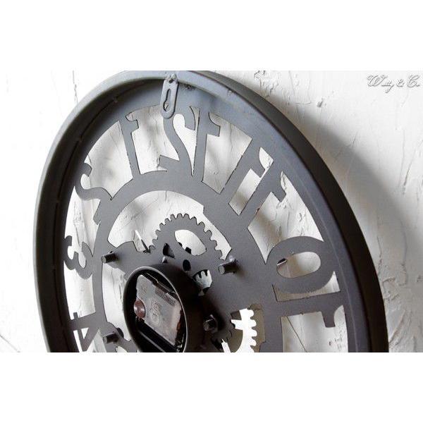 掛け時計  Cogwheel Arabic (おしゃれ 掛時計 歯車)|wutty|03