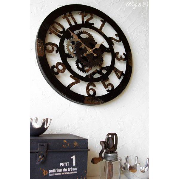 掛け時計  Cogwheel Arabic (おしゃれ 掛時計 歯車)|wutty|04