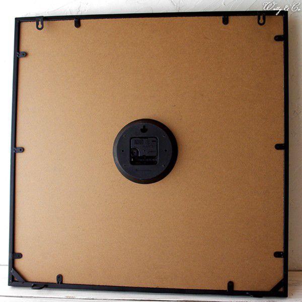 掛け時計  Square60 Black (おしゃれ 掛時計 WALLCLOCK) wutty 04