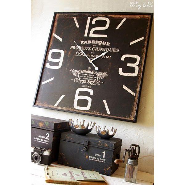掛け時計  Square60 Black (おしゃれ 掛時計 WALLCLOCK) wutty 06