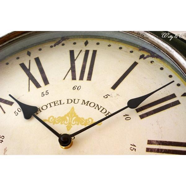 掛け時計 Silver Rim Wall Clock (アンティーク調 掛時計)|wutty|02