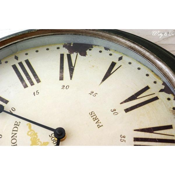 掛け時計 Silver Rim Wall Clock (アンティーク調 掛時計)|wutty|03