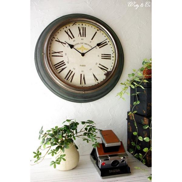 掛け時計 Silver Rim Wall Clock (アンティーク調 掛時計)|wutty|06