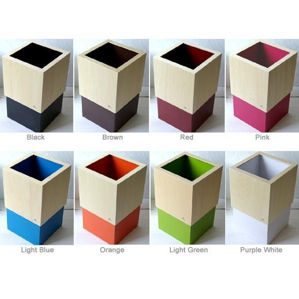 ゴミ箱/ごみ箱 W CUBE (おしゃれ 木製 ダストボックス)|wutty|05