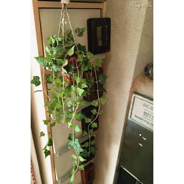 フェイクグリーン ハンギング アイビー 光触媒加工 ( 人工観葉植物 吊り下げ 壁飾り )|wutty|05