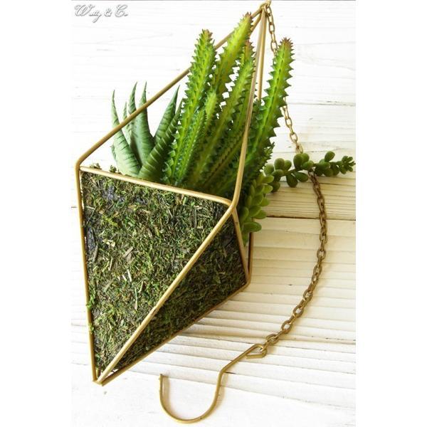 人工観葉植物 Succulent Wire Square L (B) ハンギング ( 多肉植物 フェイクグリーン 壁飾り 壁掛け ウォールグリーン )|wutty|04