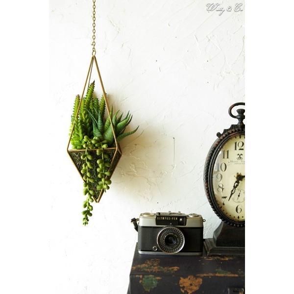 人工観葉植物 Succulent Wire Square L (B) ハンギング ( 多肉植物 フェイクグリーン 壁飾り 壁掛け ウォールグリーン )|wutty|05