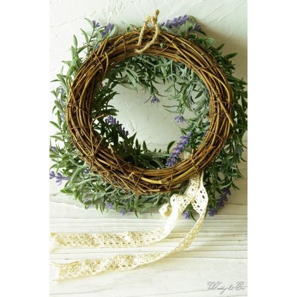 リース Lavender Wreath Ribbon ( ラベンダー 壁掛け 人工観葉植物 フェイクグリーン 壁飾り ハンギング )|wutty|04