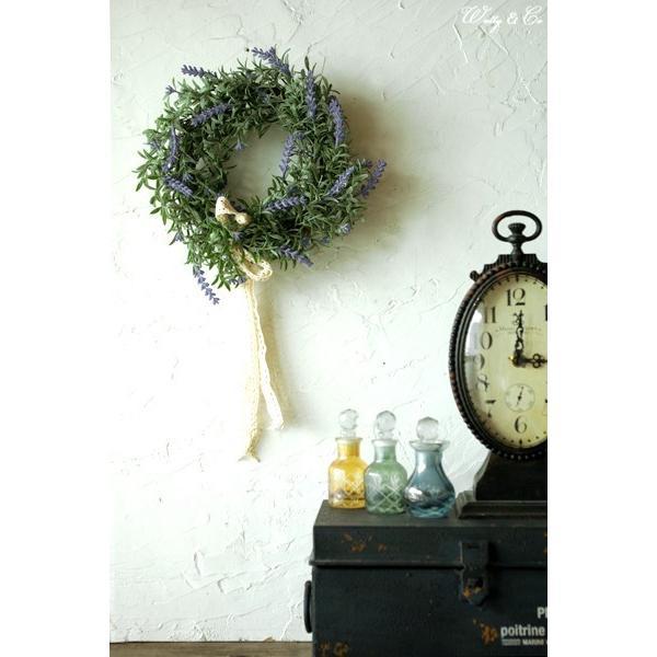 リース Lavender Wreath Ribbon ( ラベンダー 壁掛け 人工観葉植物 フェイクグリーン 壁飾り ハンギング )|wutty|05