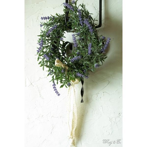 リース Lavender Wreath Ribbon ( ラベンダー 壁掛け 人工観葉植物 フェイクグリーン 壁飾り ハンギング )|wutty|06