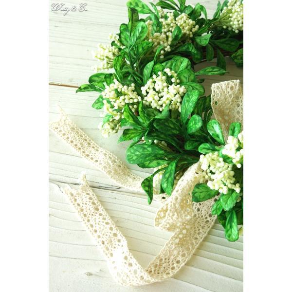 リース Green Wreath Ribbon ( 壁掛け 人工観葉植物 フェイクグリーン 壁飾り ハンギング )|wutty|03