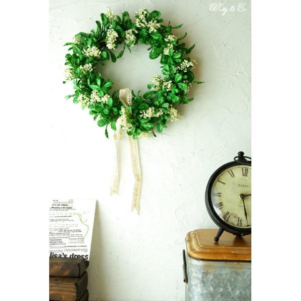 リース Green Wreath Ribbon ( 壁掛け 人工観葉植物 フェイクグリーン 壁飾り ハンギング )|wutty|06