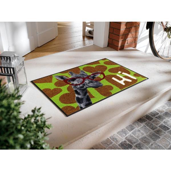 玄関マット Shiraff 50x75cm (屋外・屋内兼用)|wutty