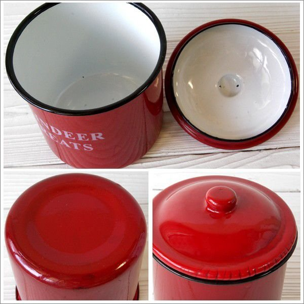 保存容器 ホーロー キャニスター 3個set Red wutty 02