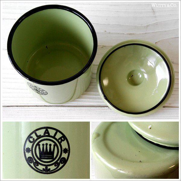 保存容器 ホーロー キャニスター 4個set Green|wutty|03