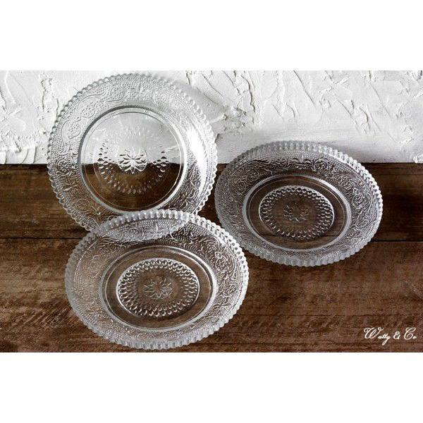 デザート皿 3枚セット CRONOS (ガラス プレート コースター)|wutty