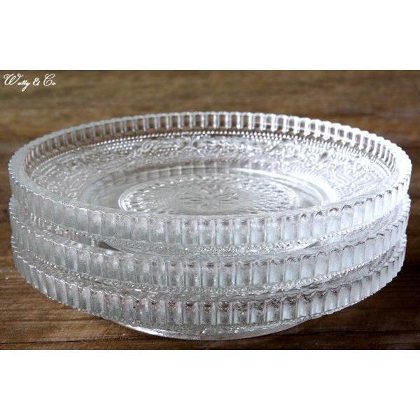 デザート皿 3枚セット CRONOS (ガラス プレート コースター)|wutty|05
